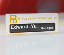 Blank metal magnetic name badge can change the names