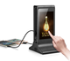 New Vertical Dual 7 Inch LCD Touch Screen Media Ad Display Digital Table Android Advertising Player with Charging Station