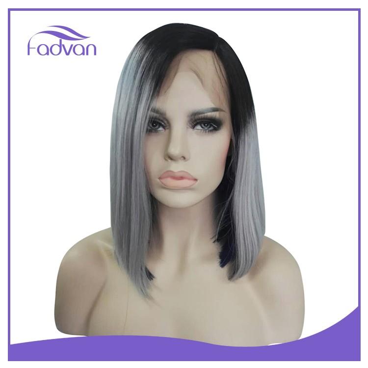 Taglio bob capelli grigi