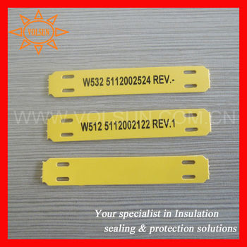 zero halogen no shrinkable plastic cable name tag plate buy