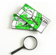 Plastic Frame Handheld Magnifier Reading Magnifying Glass Jewelry Loupe 50mm Diameter