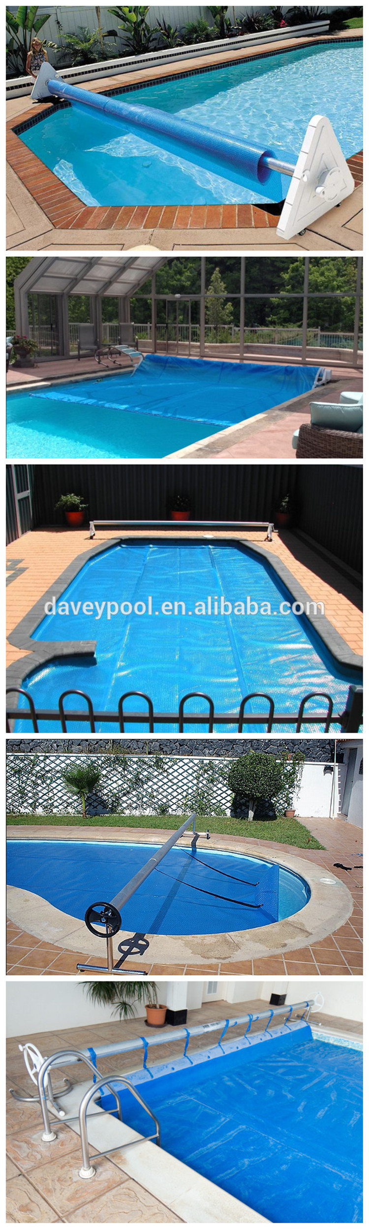 Custom Size Plastic Blue Swimming Pool Bubble Cover,Thermal Pool ...