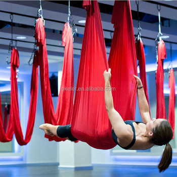 Air Flying Yoga Hammock Without Handle, Nylon Silk Aerial Belt Fitness Yoga Swing