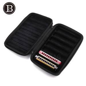 10 Holes Harmonoica Bag Gig Bag Case Box for 7pcs Harmonicas Musical Gift