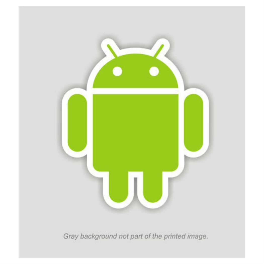 """4"""" tall - ANDROID DROID MASCOT ROBOT DECAL STICKER GOOGLE HTC OS EMOJI"""