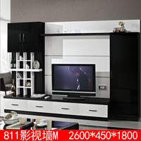 Latest wooden living room tv cabinet designs 811M wall mounted tv cabinets