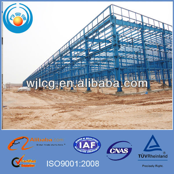 Galvanized steel frame ware houses as storage, garage