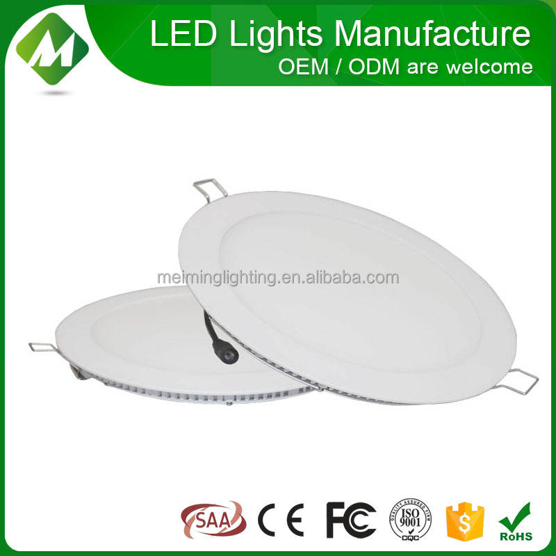 Manufacturer Recessed LED panel light 18w (Round)/slim led recessed light