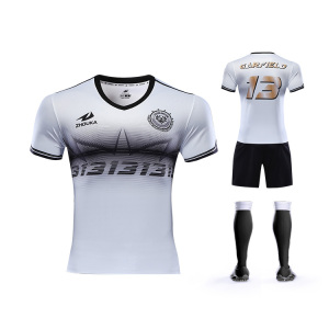 ZHOUKA Will Never Fade fabric Malaysia Soccer Jersey 2019 Top Sale Football Soccer Wear Jersey