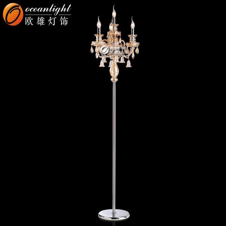 Stehleuchte Kristall Kerze Kristall Kronleuchter Standlicht OMG88644F 3 + 1