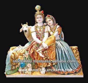 Murti White Marble Radha Krishna Buy Indian Idol Radha
