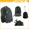 Black Durable 1680D Laptop Wheeled Backpack Trolley Laptop Backpack