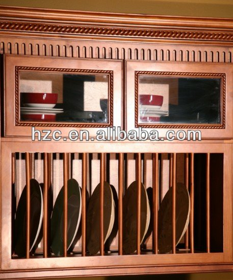 wooden plate rack kitchen cabinet