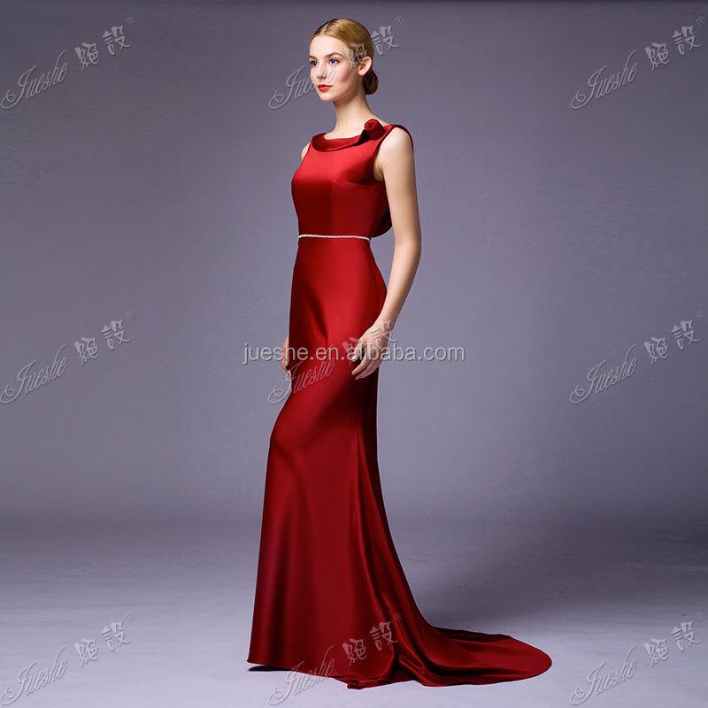 Elegant Low Back Special Occasion Wedding Guest Dress Satin ...