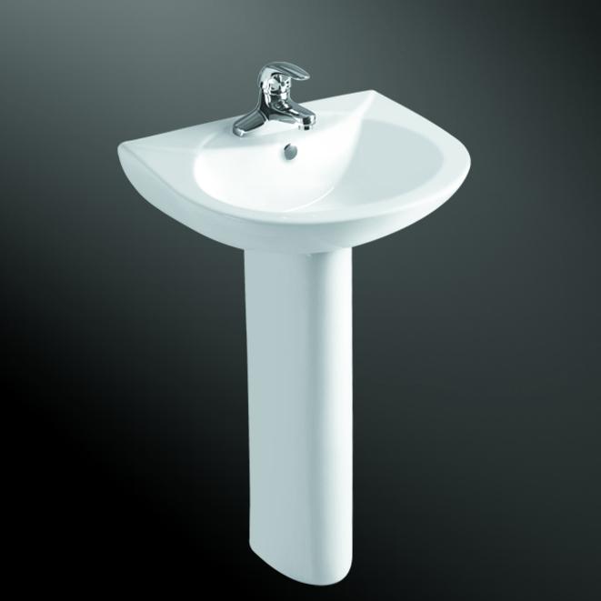 Bathroom Toilet Pedestal Sink Hand Wash Basin With Stand - Buy Basin ...