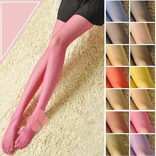 1PC Wholesale Fashion Girls Core color sense silk stockings Girl s Colorful candy color stocking Lady