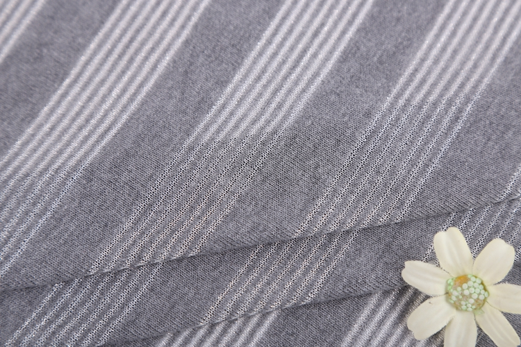 Fashion black white stripe TR blend lurex jersey fabric