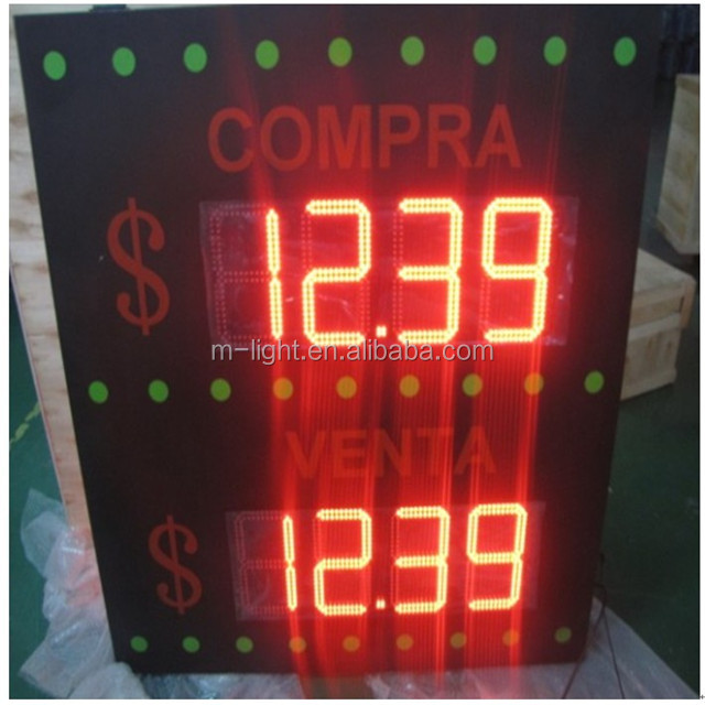 Hot sales High brightness hot sale electronic led digital gas price sign supplier