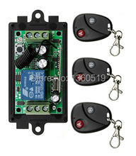 Free Shipping New DC12V 1CH RF Wireless Remote Control Switch System Transmitter with Two-button Receiver Smart Home Switch