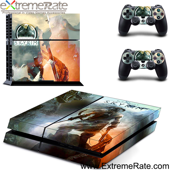 GYTM0622 Skyrim for PS4 protective case for PS4 controller grip skin sticker