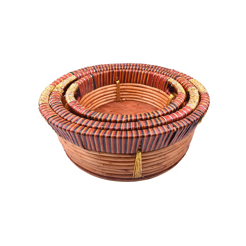 Factory customized size wicker basket decoration cake decorating tools basket nantucket basket