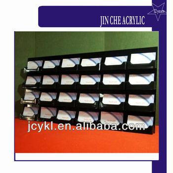 Wall mount 24 pocket business card holder buy black acrylic name wall mount 24 pocket business card holder colourmoves