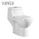 Cheap white ceramic wash down toilet bowl with P-trap