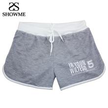 SHOWME Brand Bottoms Women Shorts Summer Sport Shorts Women Casual Elastic Waist Short Shorts Cotton Sports Running Beach Shorts