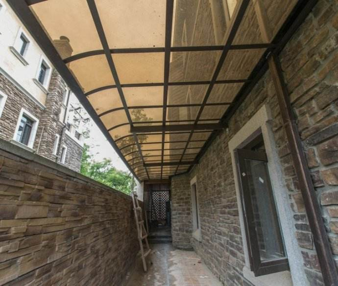 Hebei factory pc solid polycarbonate outdoor awnings for balcony/terrace and backyards