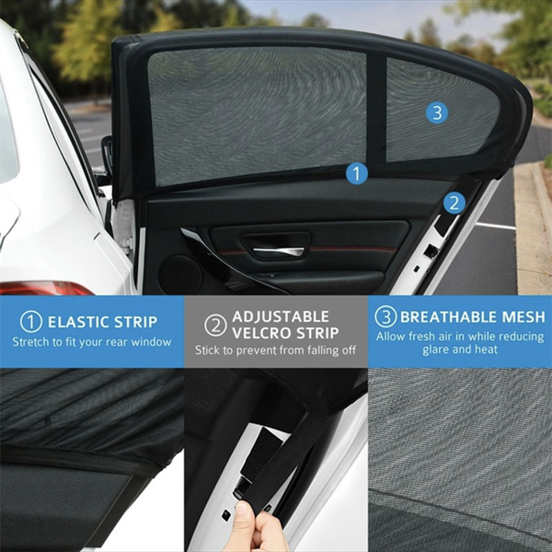 ZY-C-028 auto sun shades for side windows car shade fabric polyester sunshade