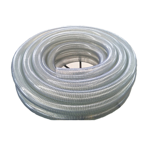 UV resistant High tensile steel wire braided smooth flexible 3/4 inch pvc steel wire reinforced spring hose pipe