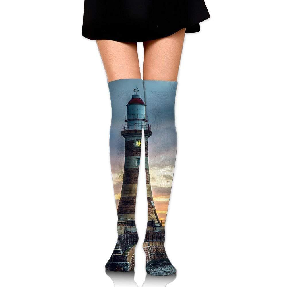 Zaqxsw Lighthouse Women Fashion Thigh High Socks Long Socks For Teen Girls