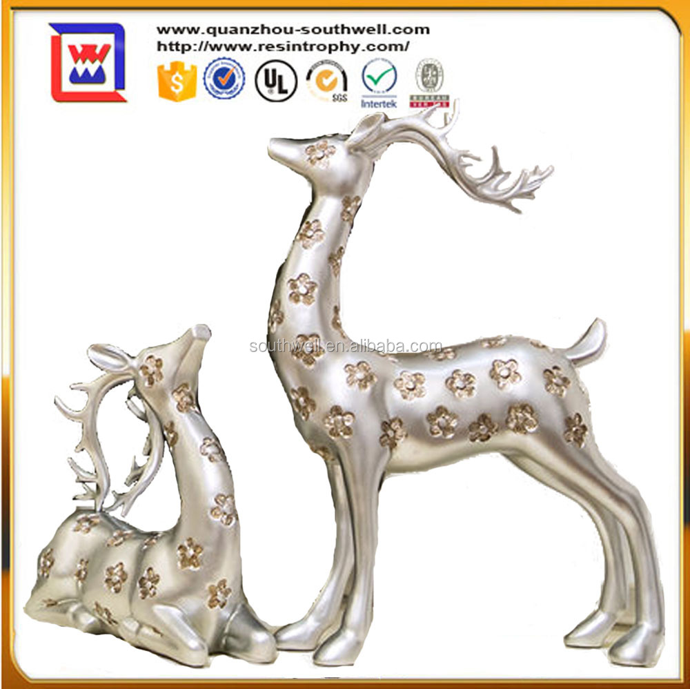 Christmas Artificial Resin Crafts Figurine Animal Mascot bucks Deer and sika deer staue for Home Decor