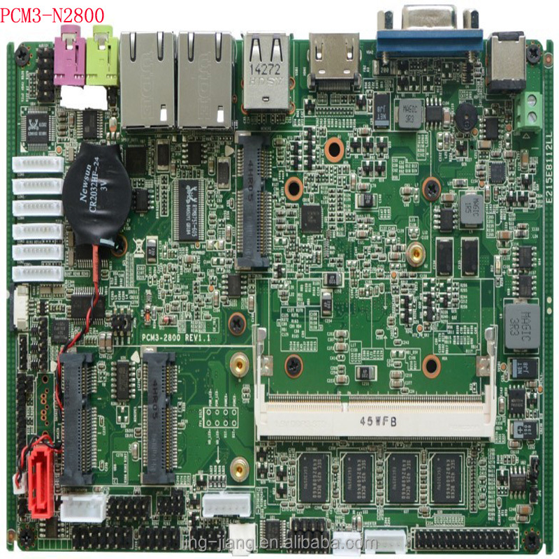 3.5 inch with 2xLAN fanless embedded industrial motherboard