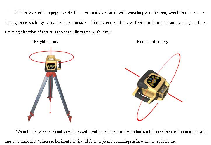 Automatic Electronic Self-Leveling Rotary Rotating Red Laser Level 500M