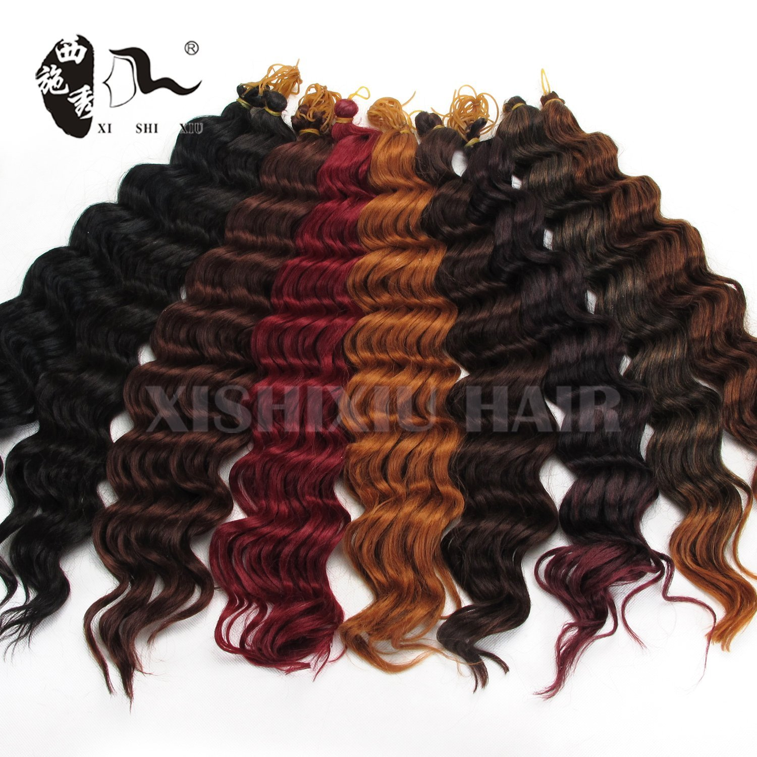 Buy New Premium Deep Wave Synthetic Hair Extension Curly Synthetic