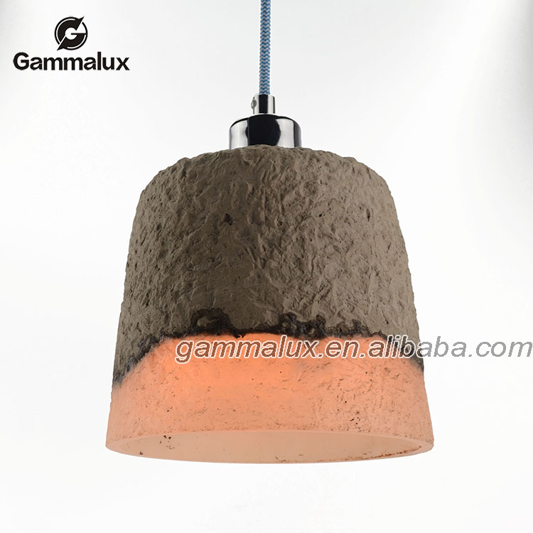 Contemporary Concrete Pendant Lighting Countryside Ceiling Fixture Lamp Light