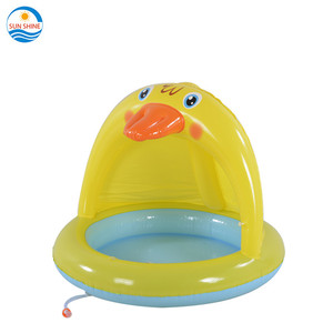 inflatable duck baby pooll with canopy swimming pool above ground floating pool