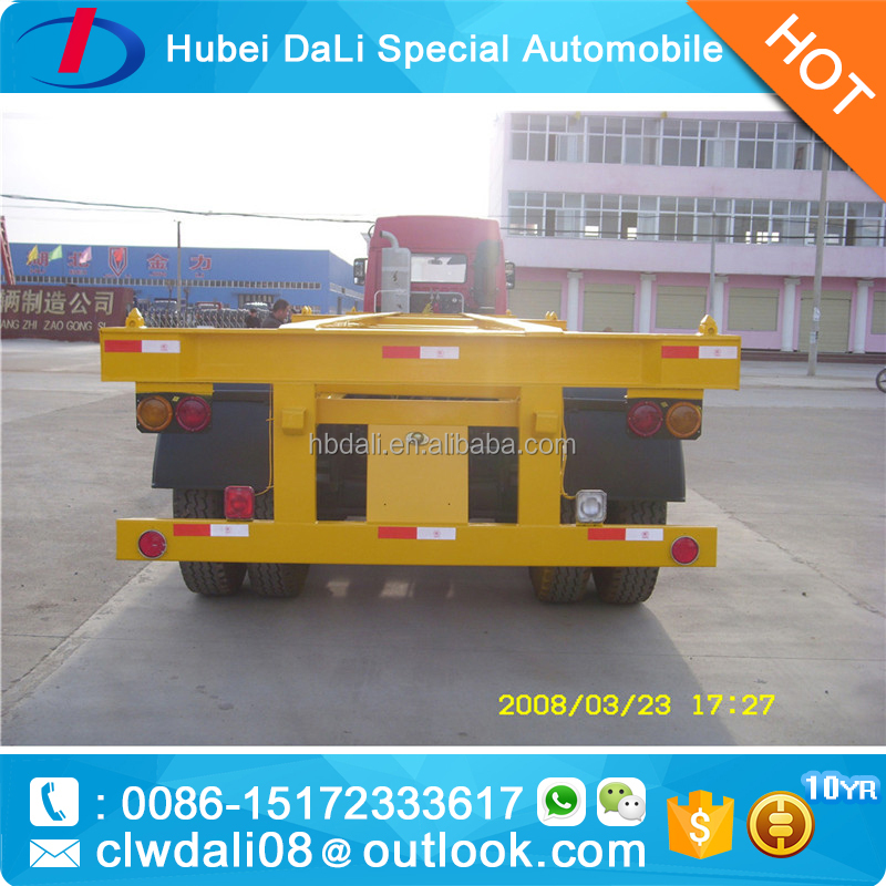 TOP brand bpw fuwa 40 feet 40-80 tons 3 axles/tri axles semi trailer without drawing head for container