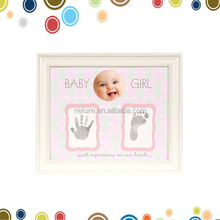 happy birthday gifts sweet baby girl hand and foot print impression kit frame wood