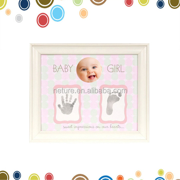 Happy Birthday Gifts Sweet Baby Girl Hand And Foot Print Impression ...