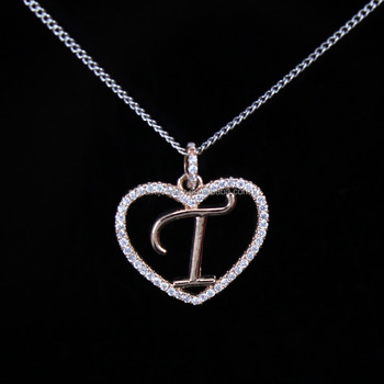beautiful design 925 silver letter t necklaceletter initial necklace buy letter pendant necklaceletter necklacefashion jewelry product on alibabacom