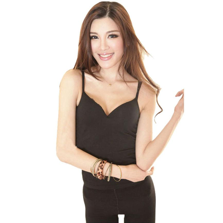 c03fb38ad5 Women Padded Bra Tops V. List Manufacturers of Top Built. List  Manufacturers of Top. Popular Smoothing Camisole Buy