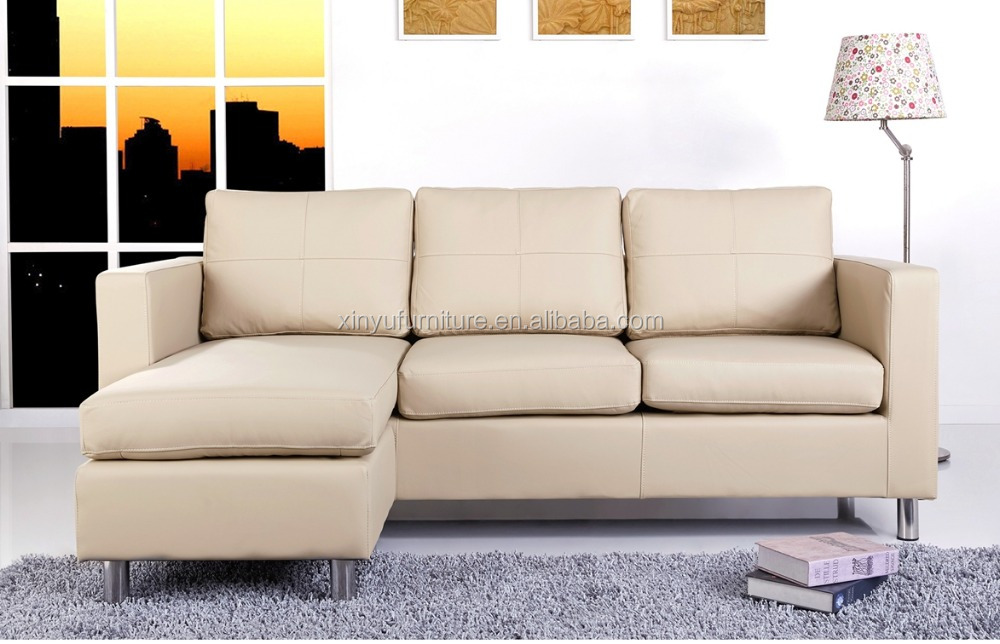Living Room Furniture L Shaped Wooden Leather 7 Seater