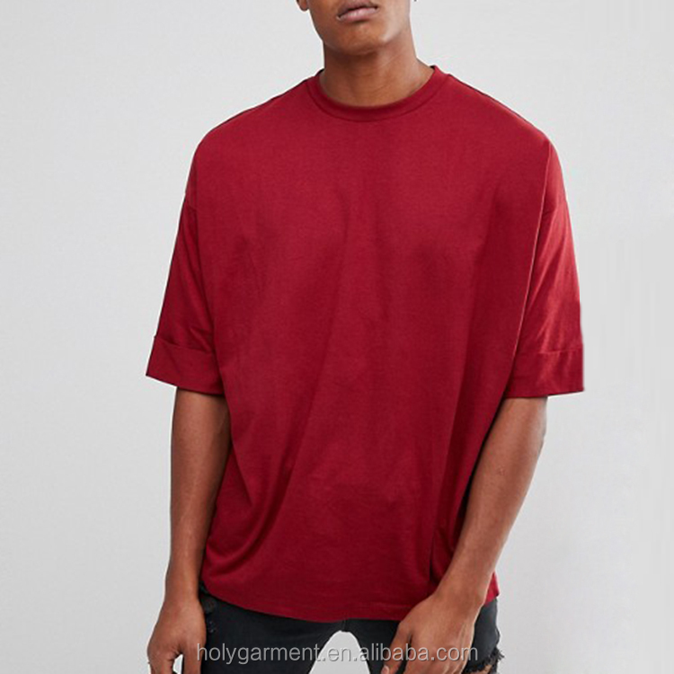 China Leverancier Aangepaste Kleur Mannen Gewassen Zwart Boxy T-shirt
