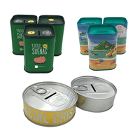 New Arrival Promotional OEM Custom Printed Tin Can Round Coin Bank, Tin Can Piggy Bank,Aluminum Tin Money Saving Box
