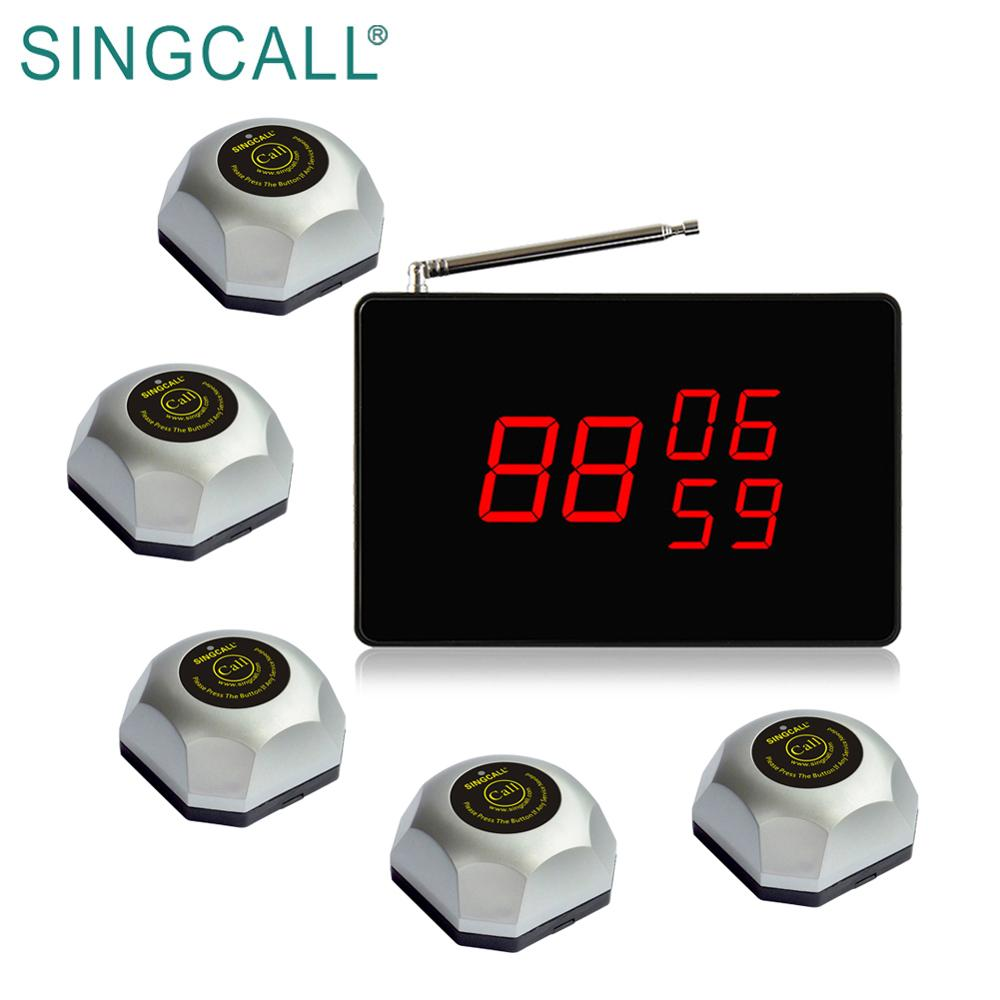 SINGCALL wireless restaurant zoemer beller ober pager systeem