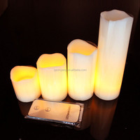 4pcs/set Not dripping wax 3 pcs dripping pillar wax led candles