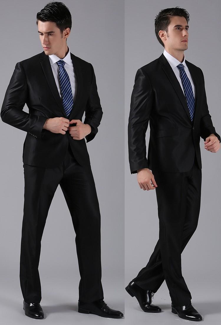 (Kurtki + Spodnie) 2016 Nowych Mężczyzna Garnitury Slim Fit Niestandardowe Garnitury Smokingi Marka Moda Bridegroon Biznes Suknia Ślubna Blazer H0285 19