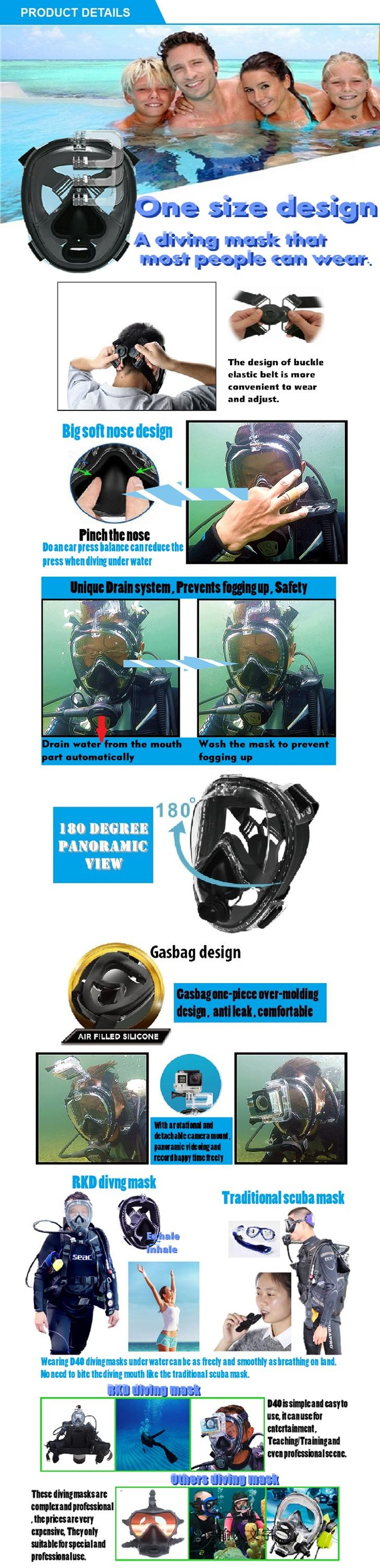 China swimming pool equipment and supplies SCUBA  diving mask